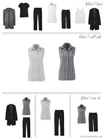 add a couple of sleeveless blouses to a travel capsules wardrobe