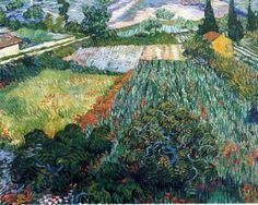 Field of Poppies, Saint-Remy, c. 1889 by Vincent Van Gogh.   Larger:  http://md.artmeteo.ru/img/exhibits/79/51/79515f33a8d5fb92bdda33e434f284ba.jpg