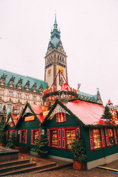 Christmas Market Fun In Hamburg, Germany
