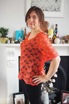 White Tree Fabrics - Lace and Fabric Lace Tee, Great British, Girl Next Door, Knit Crochet, Bee, Orange, Sewing, Knitting, Fabric