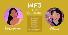 Meyers Briggs Personality Test, Infj Personality, Infj Mbti, Enfj, Infj Characters, Disney Characters, Introverted Thinking, Infj Type, Myers Briggs Personalities