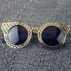 Hot Sale Women's Hollow Out Mesh Embellished SunglassesSunglasses | RoseGal.com
