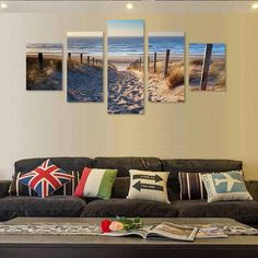 Beach Access - 5 Panel Canvas