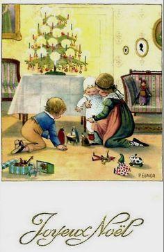 Pauli Ebner (1873-1949) — Old Christmas Post Cards (454x700)