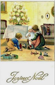 Pauli Ebner (1873-1949) — Old Christmas Post Cards