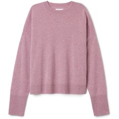 Ceil Cashmere Sweater ❤ liked on Polyvore featuring tops, sweaters, shirts, ribbed shirt, purple cashmere sweater, boxy tops, shirt top and round neck sweater