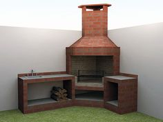 A Guide To Excellent Patio Barbecue Design Brick Grill, Patio Grill, Diy Grill, Backyard Kitchen, Outdoor Kitchen Design, Backyard Patio, Design Barbecue, Grill Design, Outdoor Barbeque