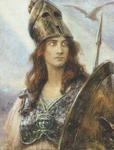 Jan Styka - Pallas Athena. Tags: minerva, pallas athena, pallas athene, children of zeus, olympians,
