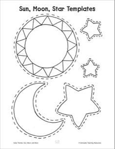 English worksheet: sun, moon and stars   Education ...