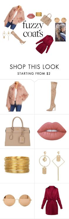"""""""fuzzle"""" by thatrecklessthing ❤ liked on Polyvore featuring Vince Camuto, Kendall + Kylie, Prada, Lime Crime and Victoria Beckham"""