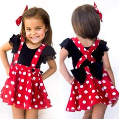 Minnie Mouse birthday outfit Red Pink polka dots criss cross suspenders circle SKIRT ONLY, with a matching hairbow, Baby infant toddler girl Minnie Mouse Rock, Disfraz Minnie Mouse, Minnie Mouse Birthday Outfit, Mouse Outfit, Minnie Mouse Costume Toddler, Homemade Minnie Mouse Costume, Minnie Mouse Halloween Costume, Mickey Birthday, Minnie Mouse Party