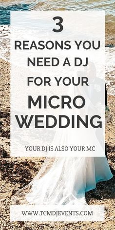 Intimate weddings need music and an MC to keep the timeline going.  Here are your top 3 reasons for why you still need a DJ for your micro wedding.  #weddingideas, #weddingsongs, #weddinginspiration Nyc Wedding Venues, Wedding Locations, Wedding Trends, Best Wedding Songs, Wedding Music, Beach Wedding Colors, Beach Wedding Decorations, Wedding Planning Tips, Wedding Tips