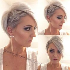 Wedding Side Braid Hairstyle for Short Hair