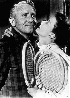 "Katharine Hepburn and Spencer Tracy in ""Pat and Mike."" What a pair!"