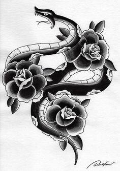 Snake n roses