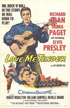 "MP312. ""Love Me Tender"" Movie Poster by Tom Chantrell (Robert D. Webb 1956) / #Movieposter"