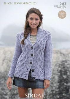 Ladies Jacket in Sirdar Faroe Super Chunky , Black Sheep Wools Knitting P...