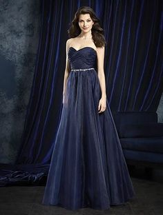 dc38daf1f7 Alfred Angelo 8107L - Size 10 Navy. Organza Bridesmaid DressBridesmaid  Dress StylesStrapless ...
