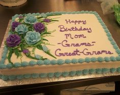 birthday sheet cakes | ... ) because I just made a 90th birthday cake, half sheet, with roses