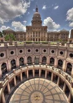 Texas State Capitol. Most Austinite's are quick to tell you that our state capitol building is larger than our nation's capital building in DC. Made of Texas pink granite, its history, architecture, and impressive rotunda is worth the free guided tour.