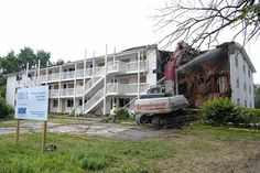 Whitehall Mayor Kim Maggard says the demolition of a condemned apartment building last week is just the first step in a concentrated and continuous effort to identify and eradicate problem sites in the city.
