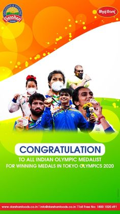 India finishes 48th, best in four decades; 33rd in terms of overall medals won 1 #Gold , 2 #Silver , 4 #Bronze - India produced it's richest-ever medal haul at Tokyo Olympics 2020. #Tokyo #tokyo2020 #TokyoOlympics #olympics #tokyoOlymics2021 #tokyo2021 #teamIndia #goforGold #cheer4India #olympicGames #wresteling #badminton #weighlifting #javelinthrow #hockey #boxing Javelin Throw, Tea Snacks, Going For Gold, Tokyo 2020, Tokyo Olympics, Badminton, Olympic Games, Cheer, Congratulations