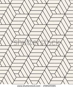 Vector seamless pattern. Modern stylish texture. Repeating geometric tiles with hexagonal linear grid. Contemporary graphic design.