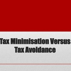 Tax Minimisation Versus Tax Avoidance There's a fine line between minimising your tax bill and rorting the system, but as an investor it makes sense to. http://slidehot.com/resources/tax-minimisation-versus-tax-avoidance.27227/