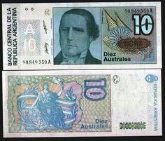 10 australi, Argentyna
