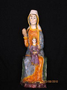 Virgen sedente con el Niño. S. XII  Villacete