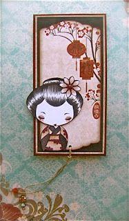 TGF image. scrap stamping e fantasia: segnalibro con Geisha ♥
