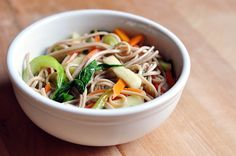 Cool Summer Recipe: Soba Noodles with Wilted Bok Choy