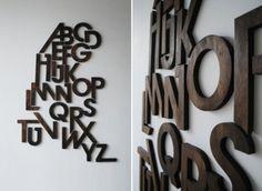 Popular Creative Inspiration on Designspiration Creative Typography, Creative Fonts, Typography Design, Typography Inspiration, Creative Inspiration, Design Inspiration, Wood Company, Wooden Alphabet, Ideas Hogar