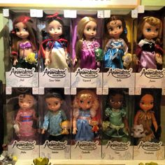 Disney Animators Collection Dolls . I love these. Sierra so far has Rapunzel and Anna.  Not the weird looking off brand toddler dolls.