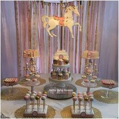 carousel baby shower party! See more party planning ideas at CatchMyParty.com!