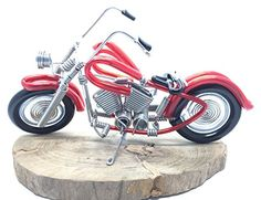 Wire Motorbike Motorcycle Sculpture Model, Handmade Wire ...