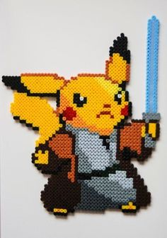 Pika Pika Pikachu se montre en perles à repasser hama pokemon perler beads