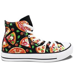 33cea17e73a3 Wen Original Hand Painted Shoes Design Custom Pizza Color High Top Men  Women s Canvas Sneakers for Christmas Gifts