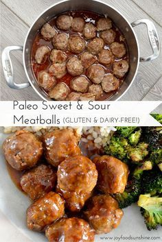 Paleo Sweet and Sour Meatballs Recipe. Ready in less than 30 minutes, these meatballs are perfect when you need a quick and healthy dinner! Husband and toddler approved!