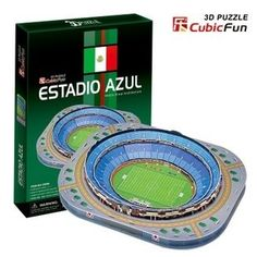 17.08$  Buy now - CubicFun 3D puzzle DIY toy child C059H gift paper model Estadio Azul Mexico Alsou Stadium building world's great architecture  #magazineonlinewebsite