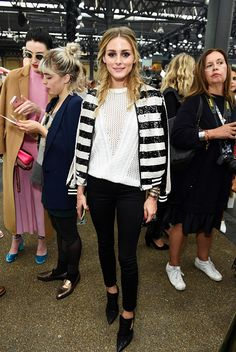 Olivia Palermo attends the Topshop Unique show during London Fashion Week…