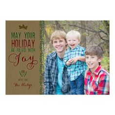Rustic Woods Photo Holiday Card with hand drawn elements. By Barbara Neely Designs on Zazzle. http://www.zazzle.com/BarbaraNeelyDesigns?rf=238104518502074178