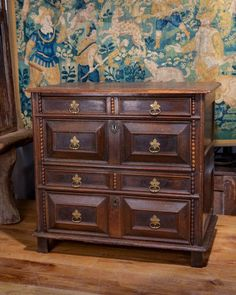 17th century chest of drawers, Marhamchurch antiques