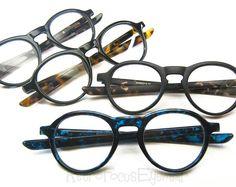 80's Style Panto Round Reading Glasses