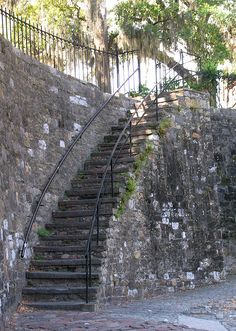 Savannah-Stairs to River Street - I know these stairs very well.  Stumbled up them many times leaving Wet Willies #collegedays lol