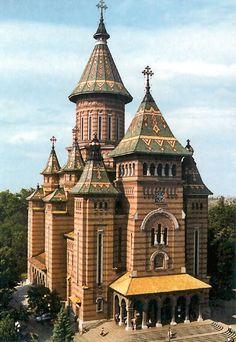 Romania Travel Inspiration - the Romanian Orthodox Cathedral in Timisoara, Romania Beautiful Buildings, Beautiful Places, Places To Travel, Places To See, Bósnia E Herzegovina, Timisoara Romania, Transylvania Romania, Romania Travel, Religious Architecture