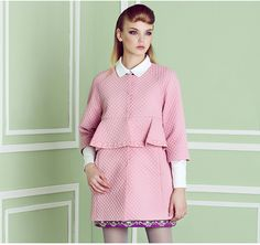 Material:Wool Color: Pale Pink Size: S/M/L