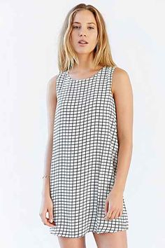Lucca Couture Windowpane Shift Dress - Urban Outfitters
