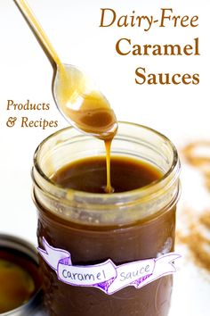 We have all the dairy-free caramel sauce toppings on the market, including gluten-free, soy-free, nut-free & coconut-free options. Plus Recipes! Dairy Free Treats, Dairy Free Diet, Dairy Free Recipes, Gluten Free, Vegan Caramel, Caramel Recipes, Carmel Sauce Recipe, Coconut Jam, Starbucks Caramel