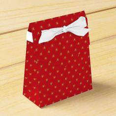 Strawberry pop pattern favor boxes
